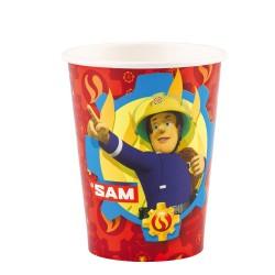 8 Cups Fireman Sam Paper 250 ml, Amscan 9902176