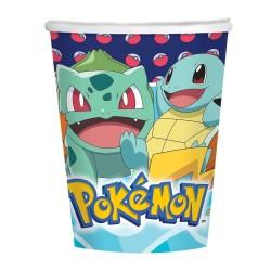 Pahare carton Pokemon pentru petrecere copii - 250 ml, Amscan 9904822