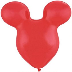 """Mousehead Latex Balloon, Ruby Red, 15""""/38cm, Qualatex 43854, 5 pieces"""