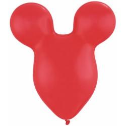 "Mousehead Latex Balloon, Red, 15""/38cm, Qualatex 43853, 5 pieces"