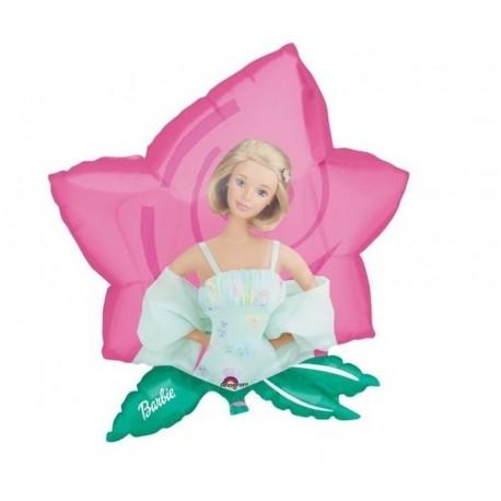 Balon Folie Figurina Barbie Floare, 59x63cm, 06626