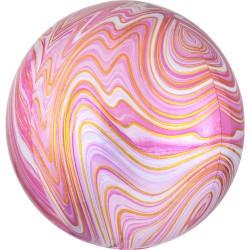 Balon Folie Orbz Pink Marblez - 38 x 40 cm, Radar 41396