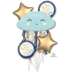 "Bouquet ""Twinkle Little Star"" Foil Balloons, 38507, set of 5 pieces"
