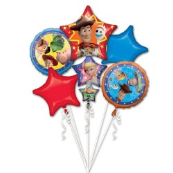 Bouquet Toy Story 4 Foil Balloon, Radar 39515, pack of 5 pieces