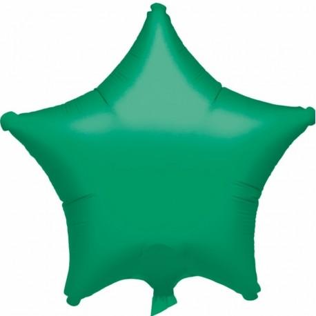 Balon folie verde metalizat cu forma de stea - 48 cm, Anagram 20359-40, 1 buc