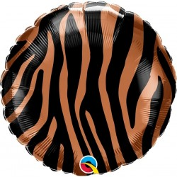 Balon Folie 45 cm Tiger Stripes Pattern, Qualatex 13334
