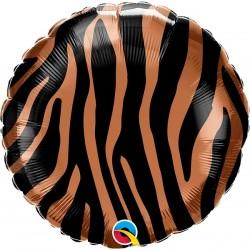Tiger Stripes Pattern Foil Balloon, Qualatex 13334