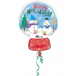 Balon folie figurina Craciun Happy Holidays - 38x50 cm, Amscan 33976