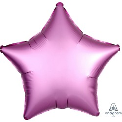 Balon folie stea 45 cm Satin Luxe Flamingo, Amscan 36823