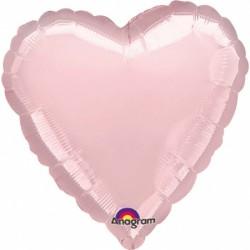 Balon folie inima 45 cm Pearl Pastel Pink, A80043