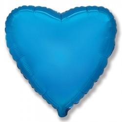 Folie inima 80 cm albastra, FLEX