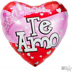 "18"" Heart Foil Balloon Te Amo, 00664"
