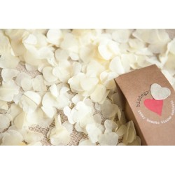 Confetti inimioare ivory hartie pentru party si evenimente, 934486