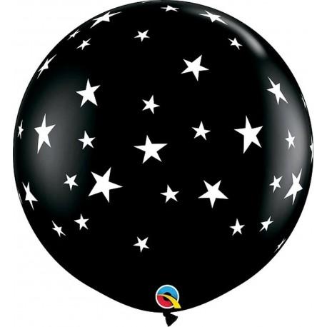 Balon latex Jumbo 3ft/ 90 cm inscriptionat - Contempo Stars, Q 88280, 2 buc