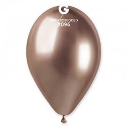 Baloane latex 33 cm Rose Gold- Shiny (Chrome), Gemar 120.96, set 50 buc