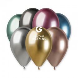 50 Latex Balloons Shiny Assorted, Gemar 120.ASS