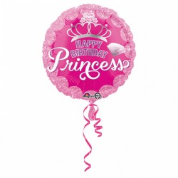 "Folie 45 cm "" Coronita Birthday Princess"", Amscan 34558"