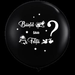 Jumbo Latex Balloon - Boy or Girl?, Radar, 1 piece
