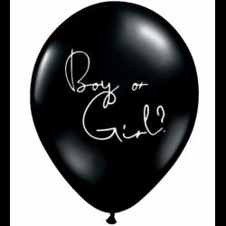 Balon Latex Jumbo 48 cm - Boy or Girl?, diverse culori, Radar, 5 buc