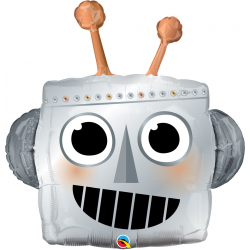 Folie figurina Cap de Robot - 90 cm, Qualatex 16412, 1 buc