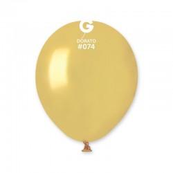 "Baloane latex sidefate 5""/13cm, Auriu 74, Gemar AM50.74, set 100 buc"