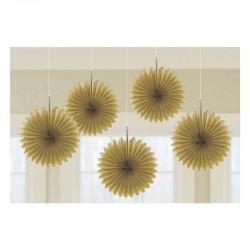 Rozete aurii decorative pentru petrecere de agatat - 15.2 cm, Radar 29055.19.55, set 5 buc