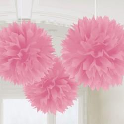 Decoratiuni pompoane roz deschis de agatat - 40.6 cm, Amscan 18055.109.55, set 3 bucati