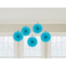 Rozete bleu decorative pentru petrecere de agatat - 15.2 cm, Radar 29055.54.55, set 5 buc