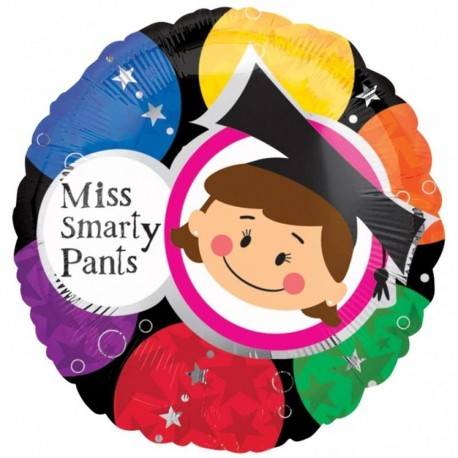 Miss Smarty Pants Foil Balloons, 45cm, 15355