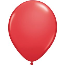 Balon Latex Red, 16 inch (41 cm), Qualatex 43897, set 50 buc