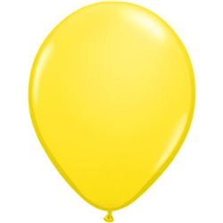 Balon Latex Yellow, 16 inch (41 cm), Qualatex 43906, set 50 buc