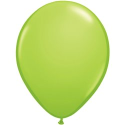 Balon Latex Lime Green, 5 inch (13 cm), Qualatex 48954, set 100 buc