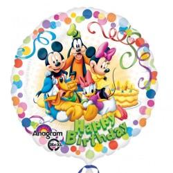 """Balon Folie Mickey & Friends """"Happy Birthday"""", 45 cm, 29007"""