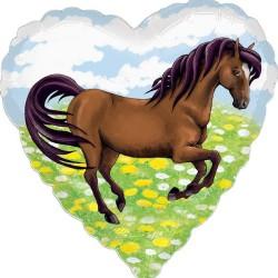 Balon Folie Inima Charming Horses, 45 cm, 29491ST