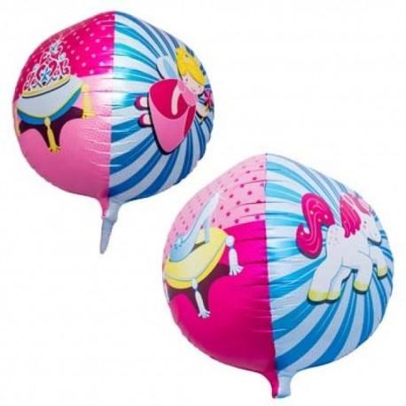 Balon Folie Sfera 43 cm 3D Printesa, 01183