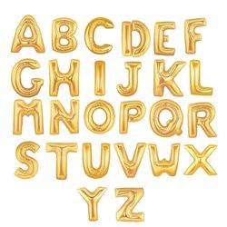 Litere folie 86 cm, A - Z, Auriu (Gold)