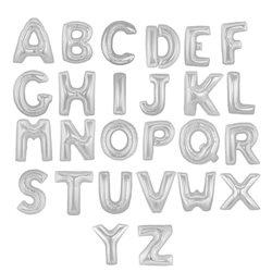 Litere folie 86 cm, A - Z, Argintiu