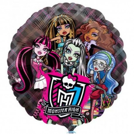 Monster High See-Thru Foil Balloon, 66 cm, 26231
