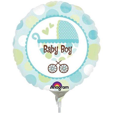 Balon Mini Folie Baby Boy Carucior, Anagram, 22126