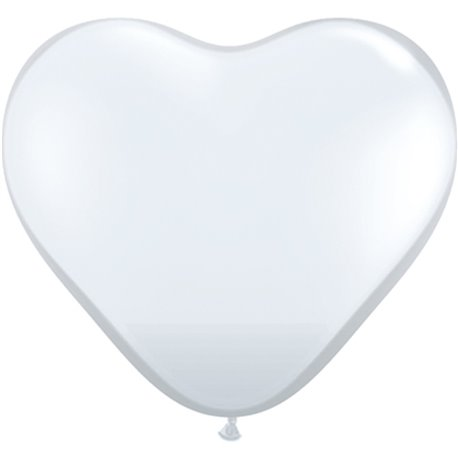 "Baloane latex in forma de inima, Diamond Clear, 6"", Qualatex 43635, set 100 buc"