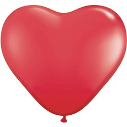 """6"""" Red Latex Heart Balloons, Qualatex 43645, Pack of 100 pieces"""