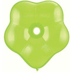"Balon latex floare, GEO Blossom 6"", Lime Green, Qualatex 87165, set 100 buc"