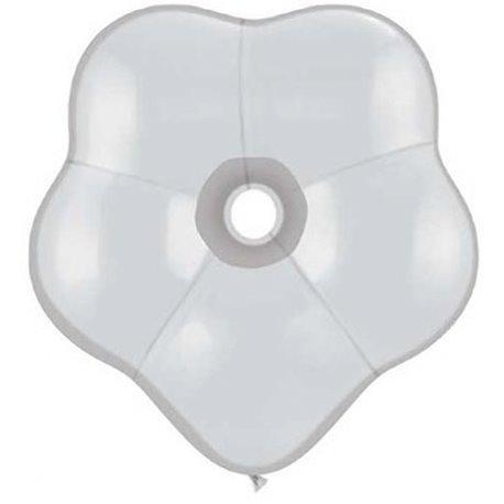 "Balon latex floare, GEO Blossom 6"", Transparent, Qualatex 43611, set 100 buc"