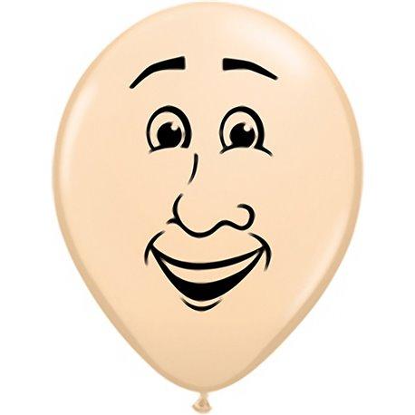 "Baloane latex 16"" inscriptionat 'Men's face Blush, Qualatex 99309, set 50 buc"