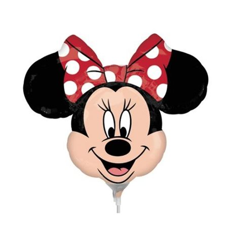 """Street Treats Minnie Mouse Shaped Foil Balloon With Red Bow, Anagram, 34"""", 22956ST"""