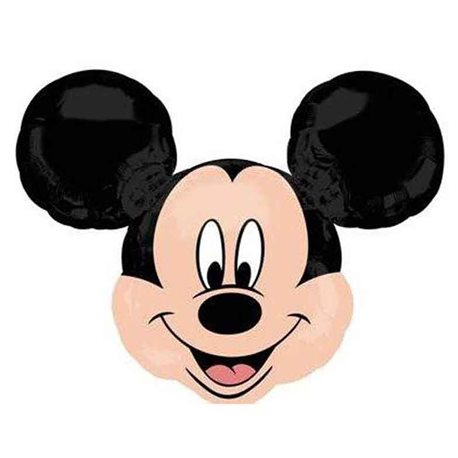 "Birthday Balloons Mickey Mouse Head Foil, Anagram, 14"", 22957"