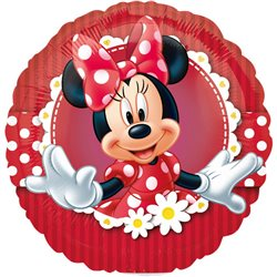 """Minnie Mouse Red Polka Dot Mad About Minnie Mini Foil Balloons on Sticks, Anagram, 9"""", 24820"""