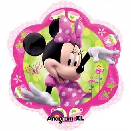 Minnie Mouse Pink Foil Balloon - Flower Junior Shape, 45 cm, 26437