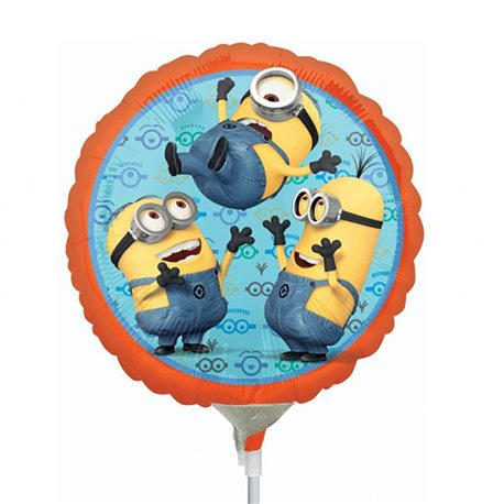 "Despicable Me Minions Mini Foil Balloons, Anagram, 9"", 29956"