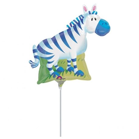 Balon Mini Folie Figurina Zebra, Anagram, 23 cm, 14309